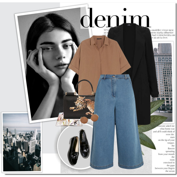 What To Wear With Denim Culottes 2020