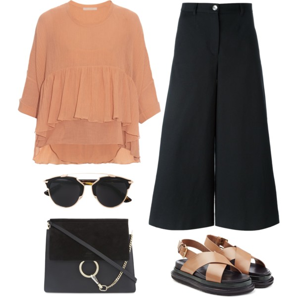 Black Culottes: Simple Outfits To Copy 2019