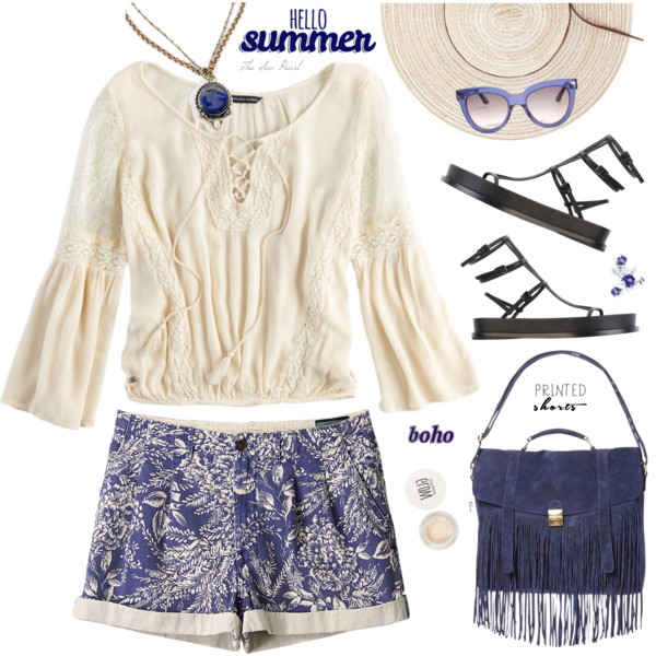 Fabulous Boho Outfit Ideas With Shorts 2019