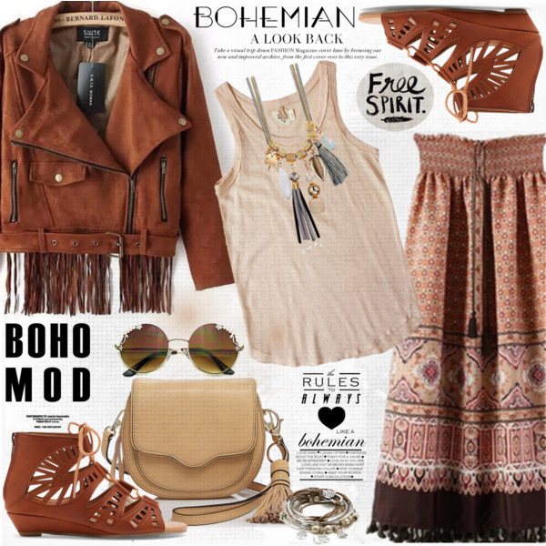 Simple Boho Looks With Skirts 2019