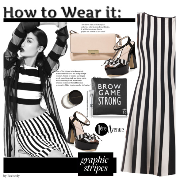 Black And White Striped Dresses 2019