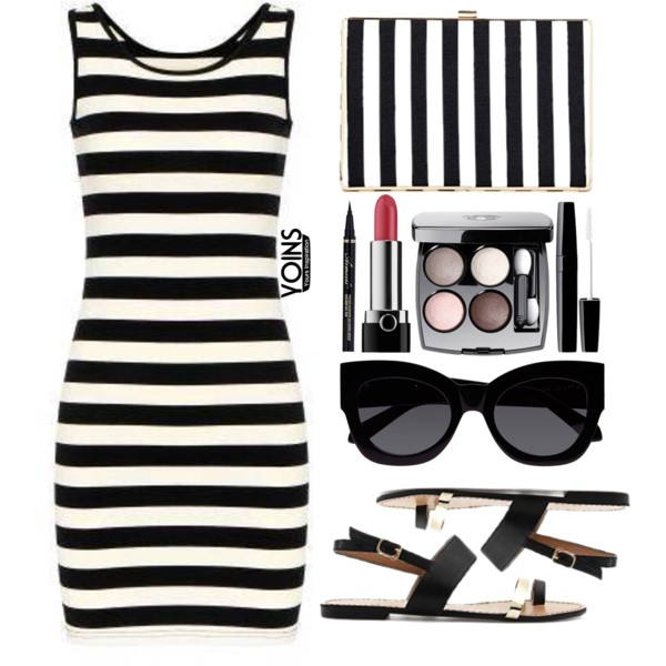 Black And White Striped Dresses 2020