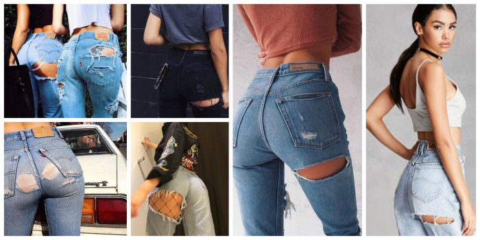 Butt Ripped Jeans Trend 2019