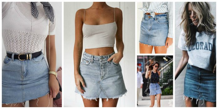 How To Style Denim Skirt 2019