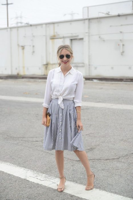 How To Style Button-Down Skirts 2019
