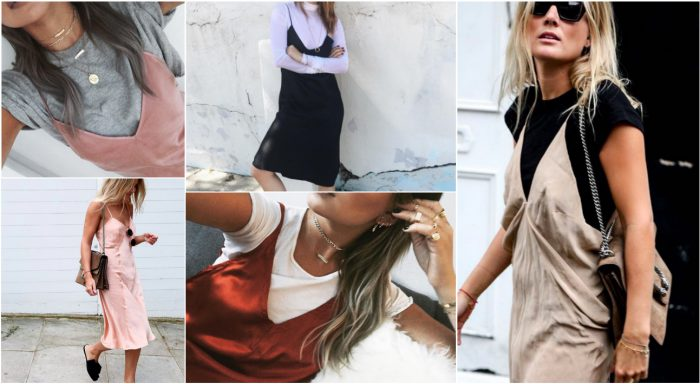 Slip Dresses Over Tops 2018 (7)