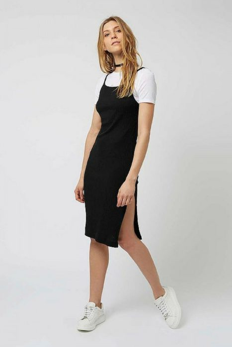 Slip Dresses Over Tops 2018 (9)