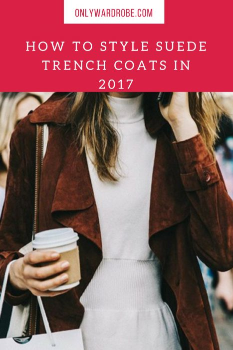 Fall Suede Trench Coats For Women 2019