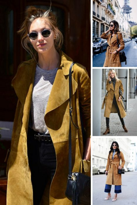 Fall Suede Trench Coats For Women 2021