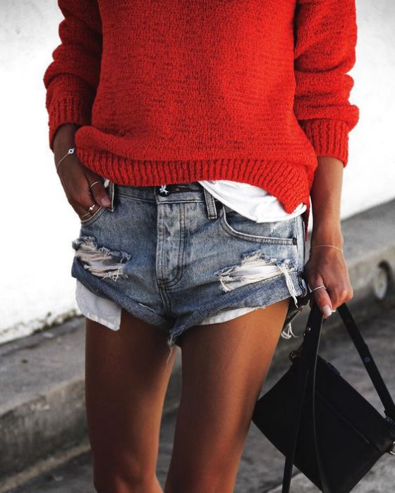 Women Shorts Outfit Ideas 2018 (24)