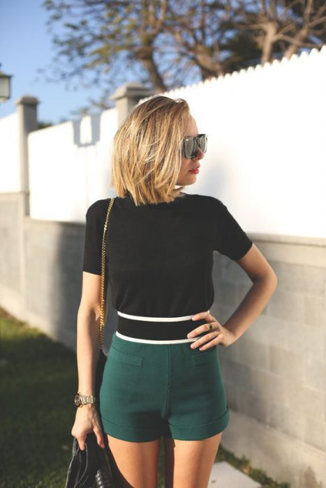 Women Shorts Outfit Ideas 2018 (62)