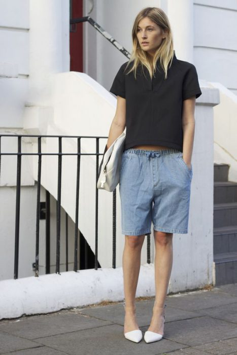 Women Shorts Outfit Ideas 2018 (9)