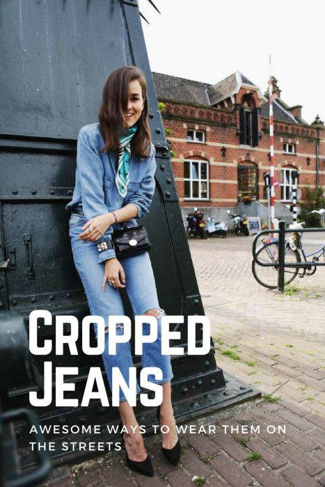Cropped Jeans Outfit Ideas For Women 2019
