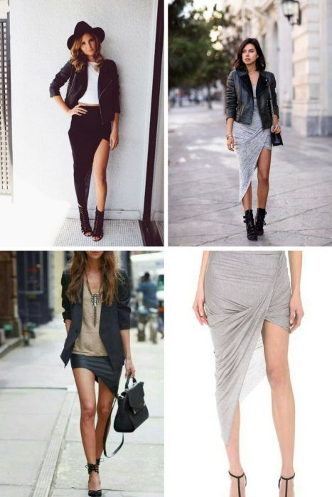 Asymmetric Ruched Skirts: Best Outfit Ideas 2019