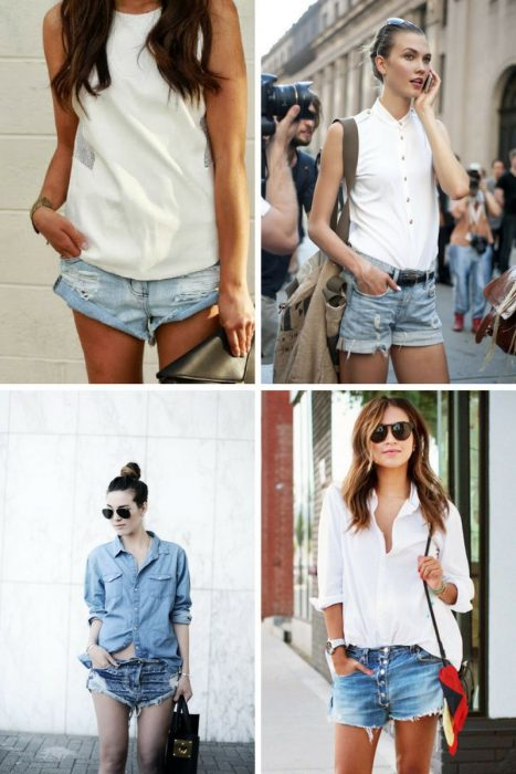 What To Wear With Denim Boyfriend Cut-off Shorts 2019