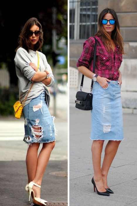 How To Wear Denim Skirts Tips And Tricks To Follow 2019
