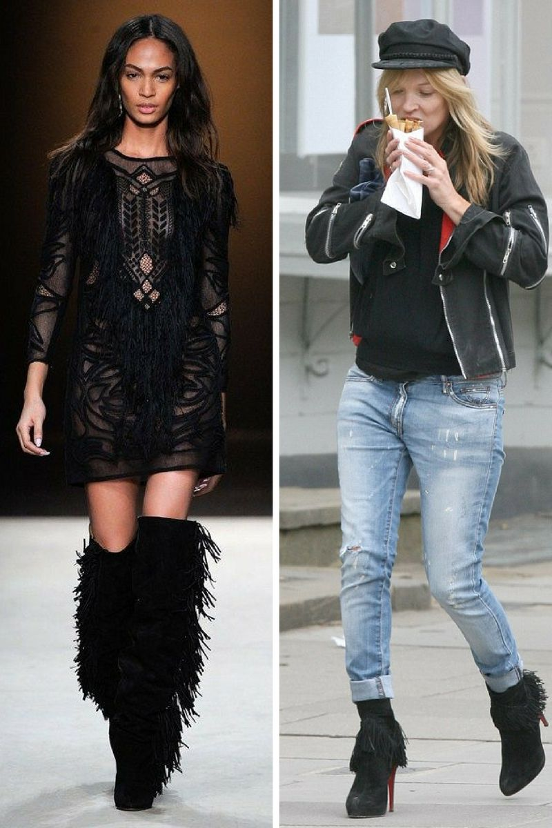 Street Style Looks With Fringe Boots
