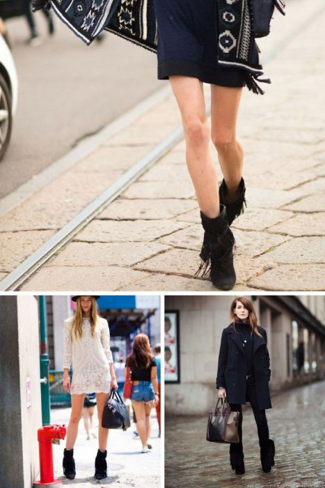 Street Style Looks With Fringe Boots For Women 2019