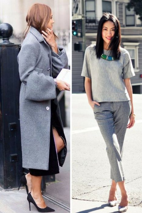 Gray Color Outfit Ideas For Women 2019