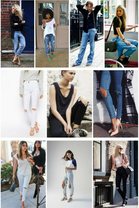 Knee Cut Jeans For Women (1)