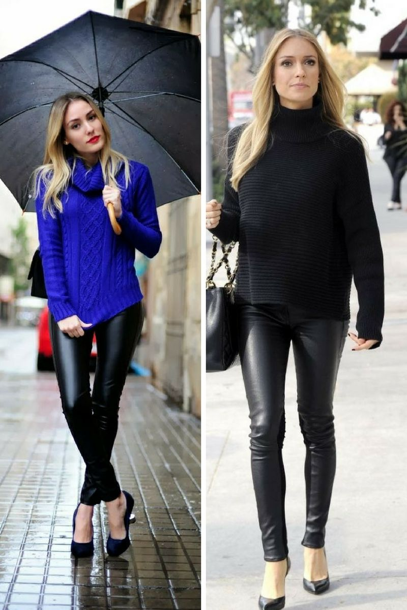 742e3b02 How To Wear Leather Pants For Women 2019 - OnlyWardrobe.com