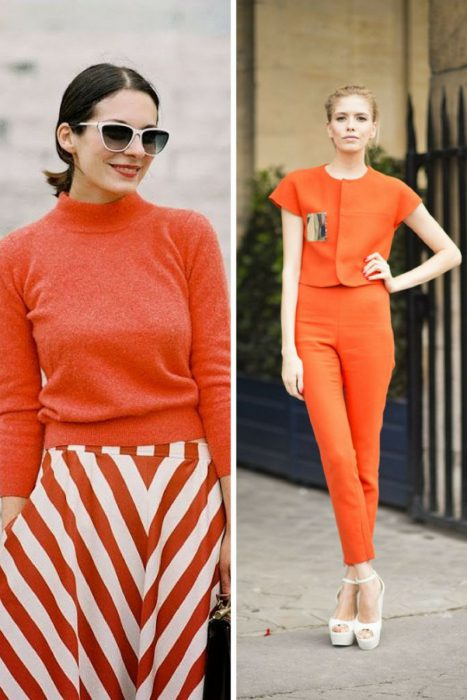 Orange Color In Clothes For Women 2018 (1)