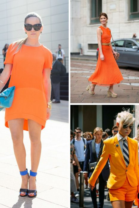 Orange Color In Clothes For Women 2018 (4)