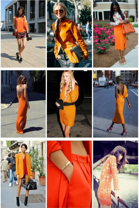 Orange Color In Clothes For Women 2018 (9)