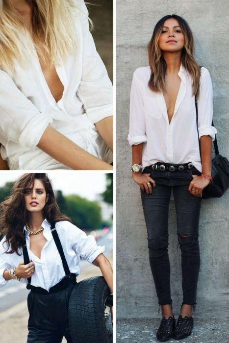 Unbuttoned Shirt Trend 2018 (12)