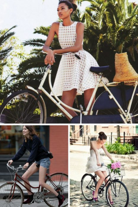 How To Wear Skirts and Heels When You Ride Bicycle 2019
