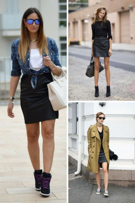 Make Black Leather Mini Skirts Look Great On You 2019