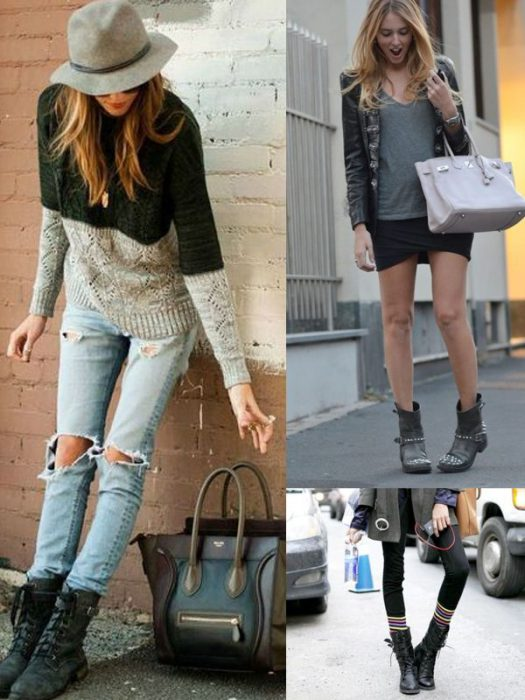Combat And Motorcycle Boots For Women 2018 (17)