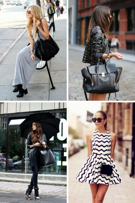 How To Style Black Bag In 2018 (14)