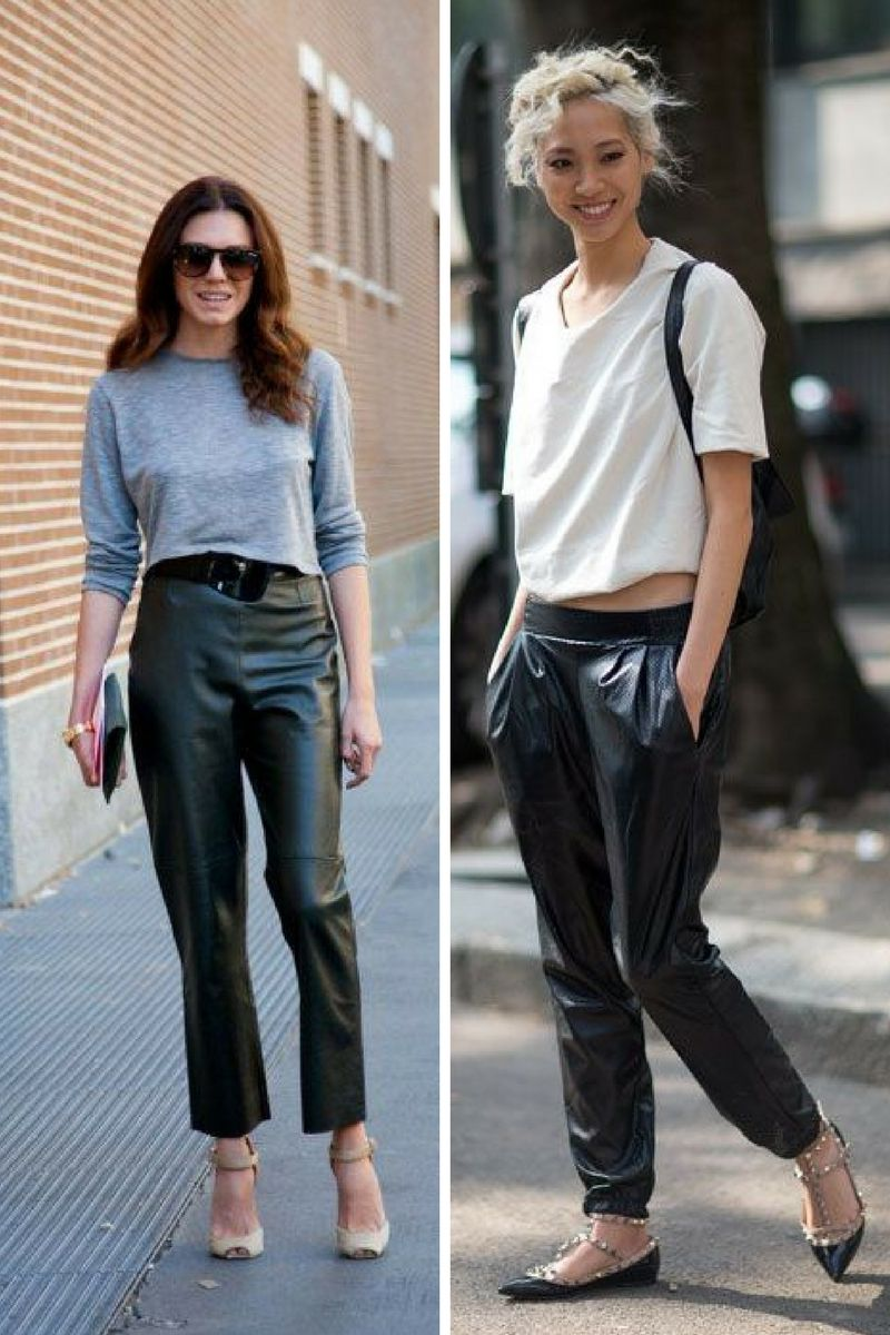 Leather Trousers Outfits To Try In 2018 | OnlyWardrobe.com