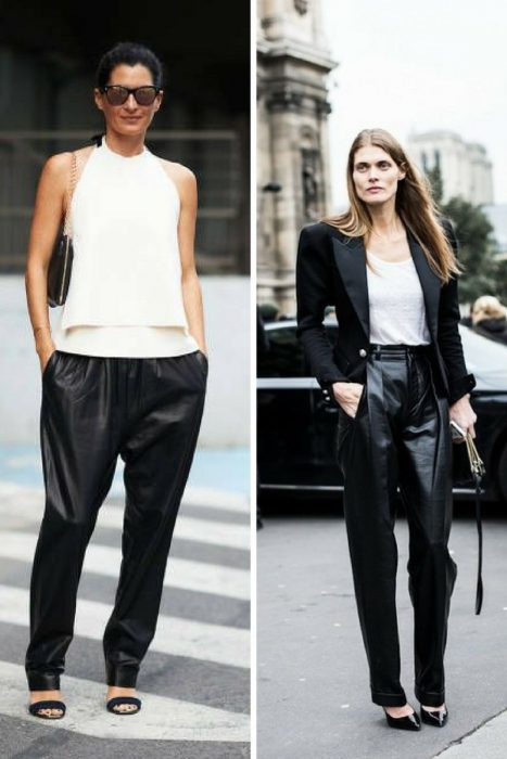Leather Trousers Outfits For Women 2019