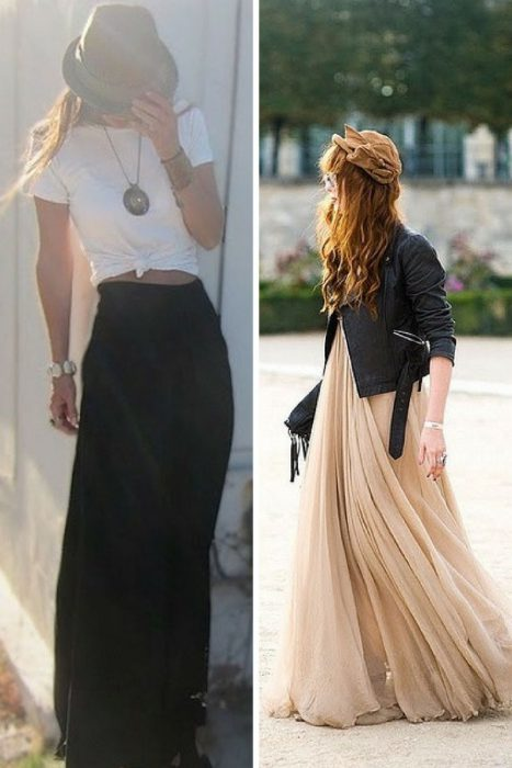Maxi Skirts Are In Fashion 2019