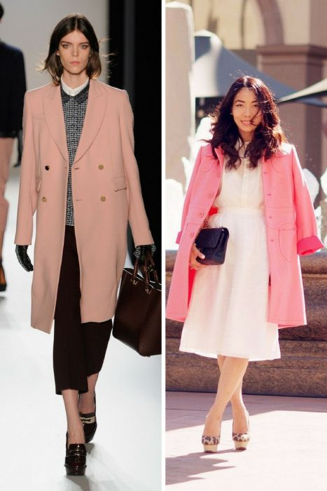 Pink Coats Trend For Women 2018 (1)