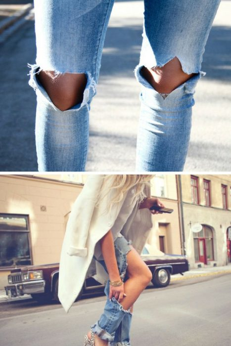 Ripped Jeans Trend For Women 2018 (8)