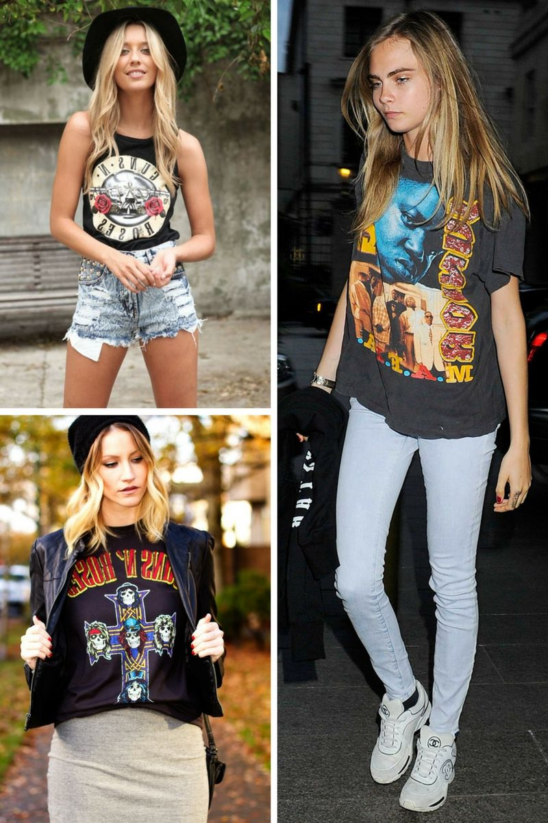 Band T-Shirts Trend 2018 Outfit Ideas To Copy Right Now ...