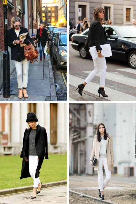 How To Wear White Jeans In Winter 2020