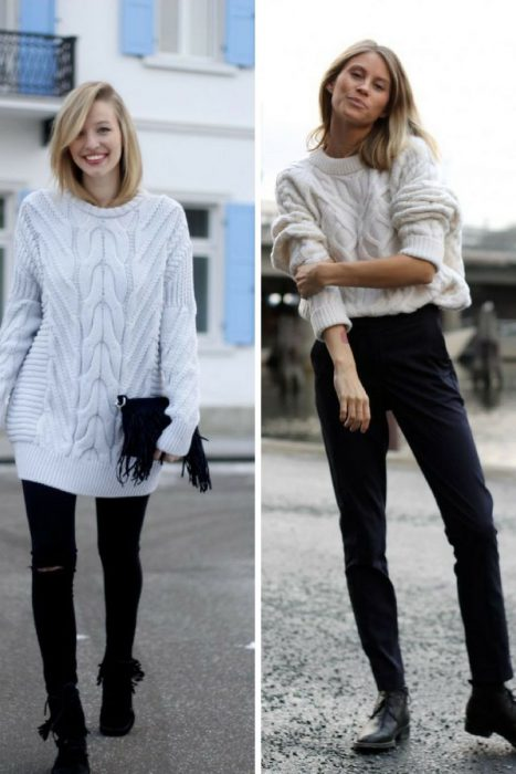 Cable Knit Sweaters Outfits 2018 (1)