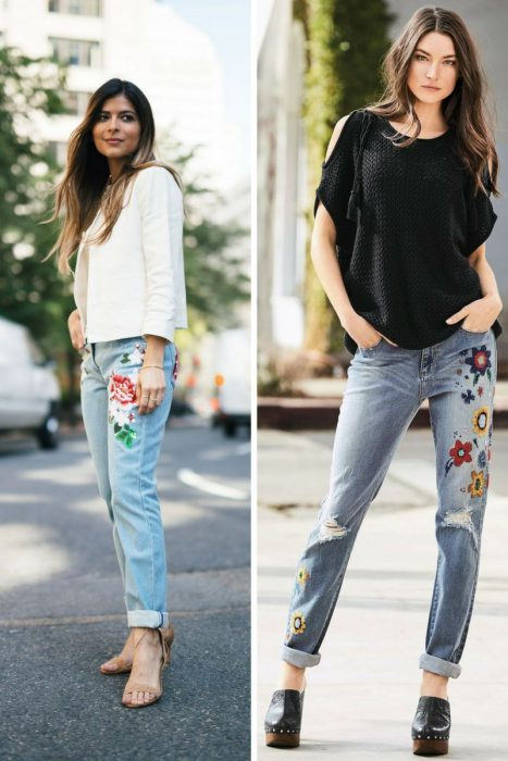 Embroidered Jeans Outfits 2018 (11)