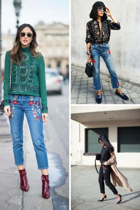 Embroidered Jeans Outfits 2018 (3)