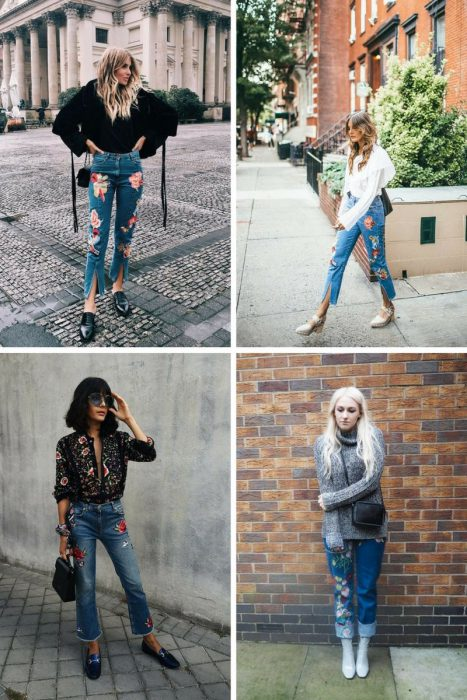 Embroidered Jeans Outfits 2018 (8)
