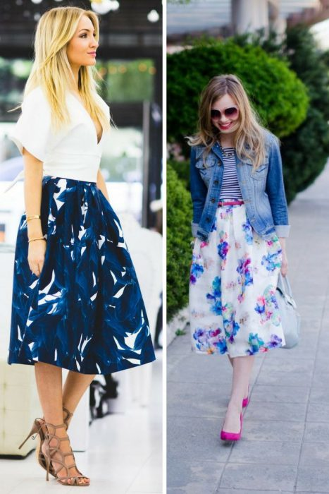 Floral Midi Skirts Outfits 2018 (11)