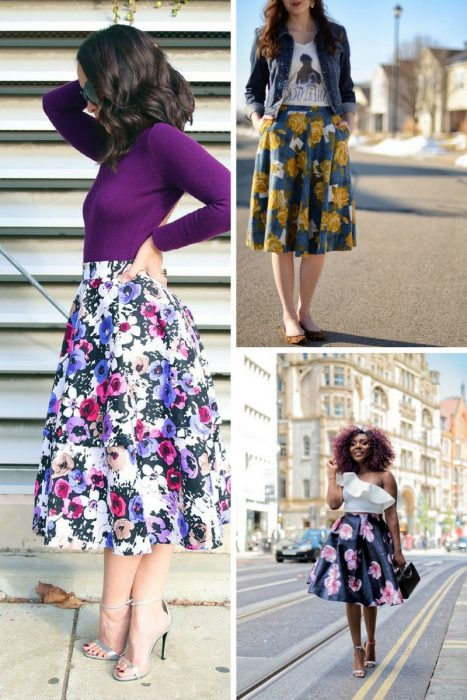 Floral Midi Skirts Outfits 2018 (3)
