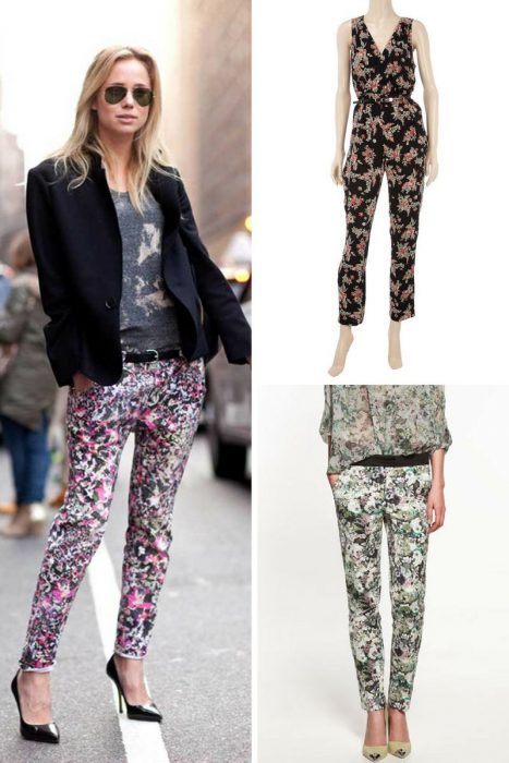 Floral Print Trousers For Spring 2018