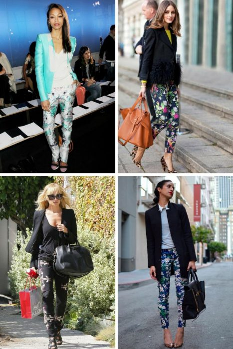 Floral Print Trousers For Spring 2019