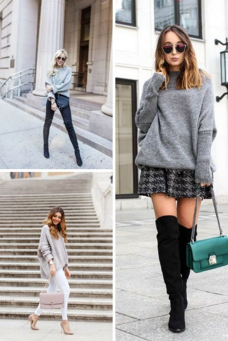 Grey Sweater Outfits 2018 (10)
