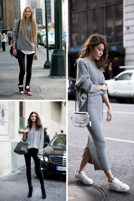 Grey Sweater Outfits 2018 (2)